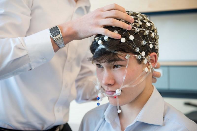 Concussion study participant Brandon Woo