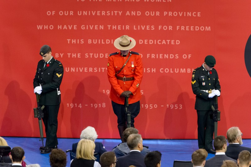 Honour Guard and Back drop
