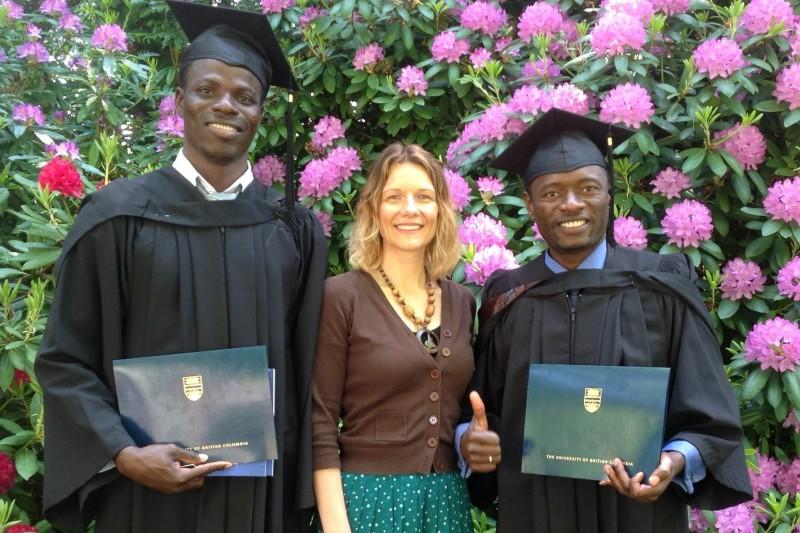 Proud Day! Jonathan Abagre, Jolanta Lekich and Patrice Meteunou