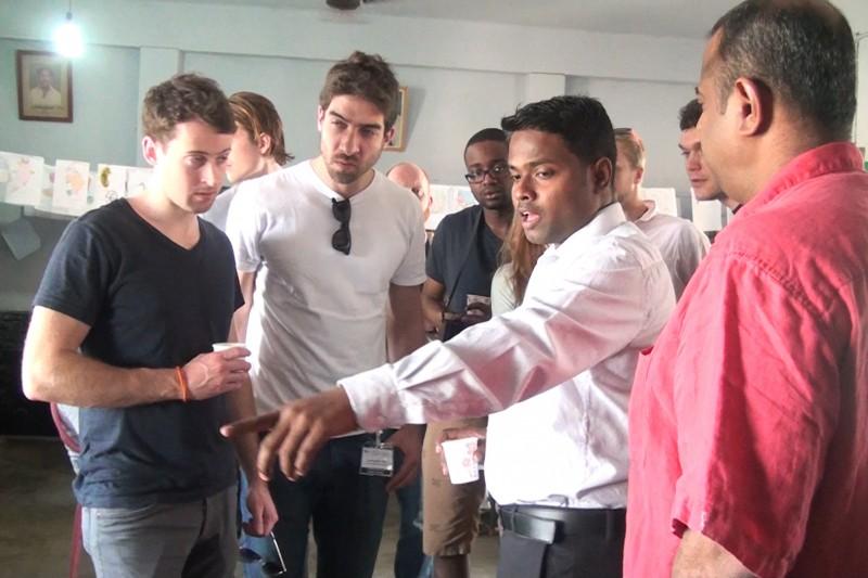 Sauder students visiting Aravind hospital in India