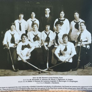 1915 UBC Women's Grass Hockey Team