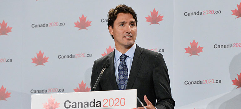 Prime Minister Justin Trudeau, pictured in June 2015. Credit: Canada 2020