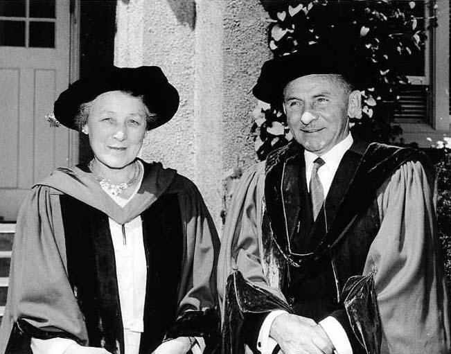 Evelyn Lett and Sherwood Lett (May 1958).  Photo courtesy of University Archives.